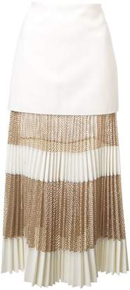 Dion Lee pleated mid-length skirt