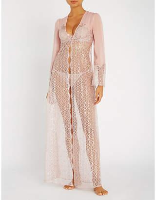 Myla Rosemoor Street metallic stretch-lace robe