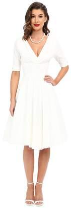 Unique Vintage 3/4 Sleeve Delores Swing Dress Women's Dress