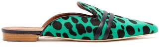 Malone Souliers Hermione Calf Hair Backless Loafers - Womens - Green Multi