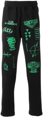 Kokon To Zai multi-stamp jogging pants