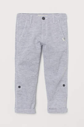 H&M Roll-up linen-blend trousers