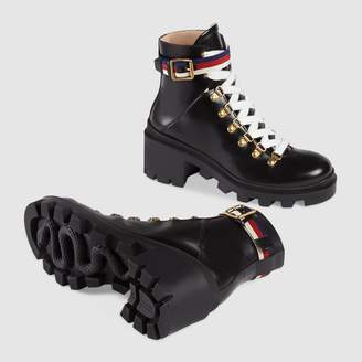 4e1ff3beeb07 Gucci Black Leather Sole Boots For Women - ShopStyle UK