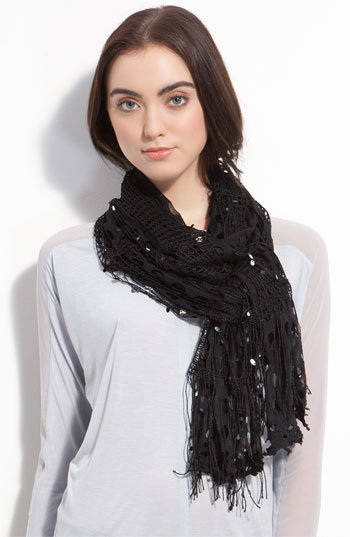 Troo Sequin Cutout Scarf