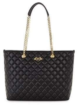 Love Moschino Diamond Quilted Tote Bag