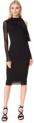 Fuzzi Cold Shoulder Fitted Dress $390 thestylecure.com
