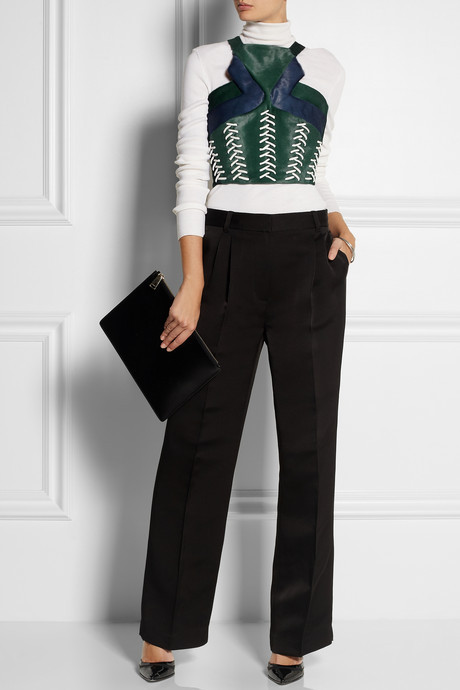 Peter Pilotto Whipstitched calf hair top