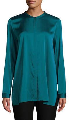 Eileen Fisher Silk Mandarin Collar Shirt