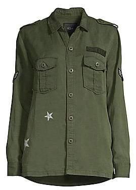 Rails Women's Kato Star Print Militar Jacket
