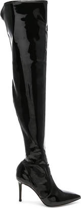 Gianvito Rossi Vinyl Gillian Thigh High Boots in Black | FWRD