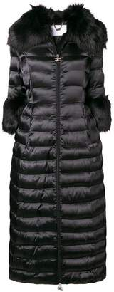 Elisabetta Franchi faux fur trimmed puffer coat