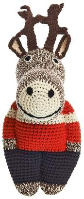 Anne Claire Petit Hand-crocheted Organic Cotton Reindeer