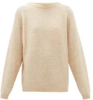 Acne Studios Moh Ribbed Boat Neck Sweater - Womens - Beige