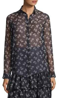 The Kooples Floral Chiffon Shirt