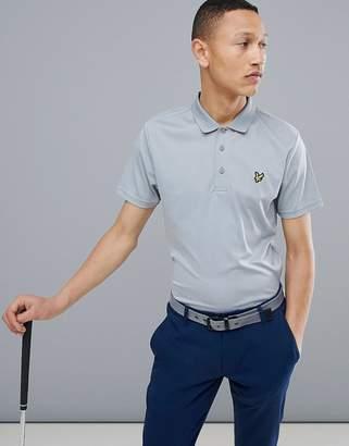 Lyle & Scott Golf Kinloch stripe polo shirt in gray
