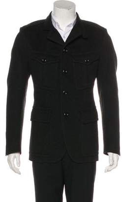 Tom Ford Wool Three-Button Overcoat
