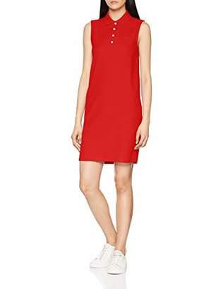 Lacoste Womens EF3059 Sleeveless Party Dress - White