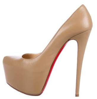 Christian Louboutin Leather Platform Pumps