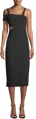 Jay Godfrey JAY X JAYGODFREY Marquette Cutout Asymmetric Cocktail Dress