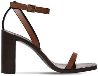 Saint Laurent 95mm Lou Lou Leather Sandals