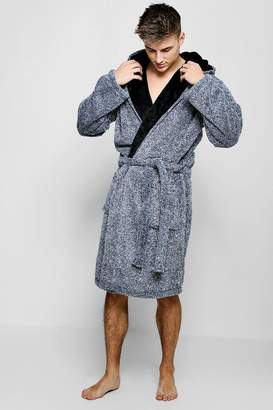 ebac421bd4 boohoo Mens Shaggy Fleece Dressing Gown
