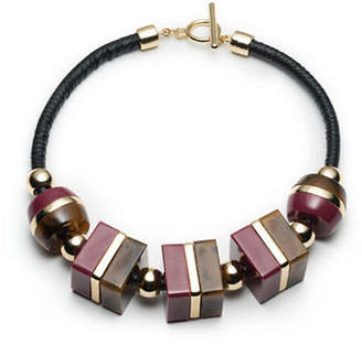 Trina Turk Leatherette Collar Necklace