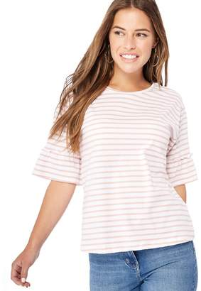 The Collection Petite - Pink Striped Petite Top