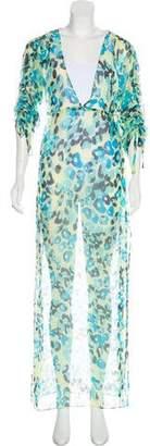 Diane von Furstenberg Sheer Silk Empire Dress