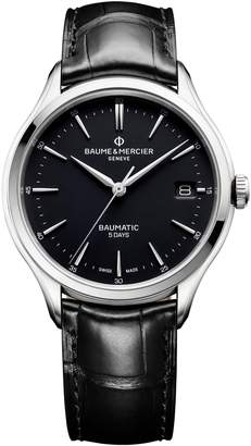 Baume & Mercier Baumatic Automatic Leather Strap Watch, 40mm