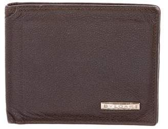 Bvlgari Grained Leather Bifold Wallet