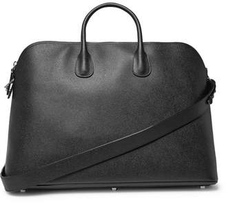 Valextra My Logo Pebble-Grain Leather Holdall