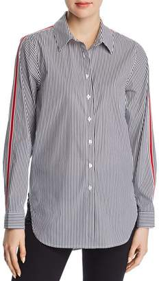 Calvin Klein Pinstriped Button-Down Top