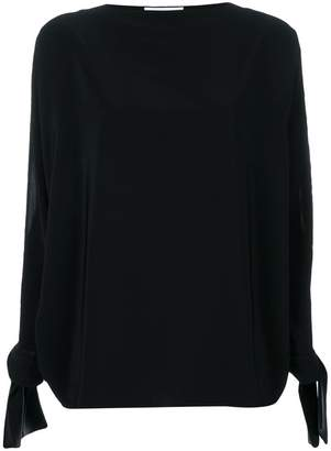 Gianluca Capannolo satin tie cuff blouse