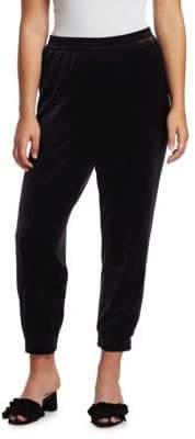 Joan Vass Cropped Jogger Pants