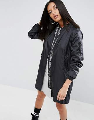 ASOS Rain Trench With Graphic Print $79 thestylecure.com