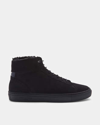 Ted Baker THONEL Nubuck leather hi top trainers