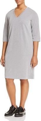 Marina Rinaldi Odessa Metallic Jersey Dress $295 thestylecure.com