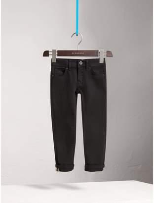 Burberry Skinny Fit Stretch Denim Jeans , Size: 14Y, Black