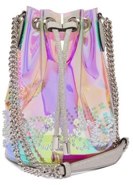 Christian Louboutin Marie Jane Pvc Bucket Bag - Womens - Clear Multi