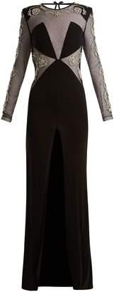 DUNDAS Embellished open-back gown