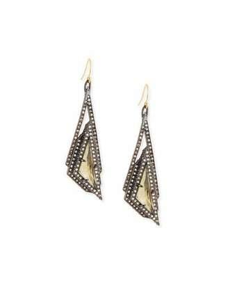 Alexis Bittar Crystal Pyramid Drop Earrings $275 thestylecure.com