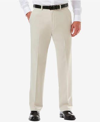 Haggar Men Cool 18 Pro Classic-Fit Expandable Waist Flat Front Stretch Dress Pants
