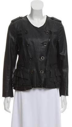 3.1 Phillip Lim Leather Double-Breasted Jacket