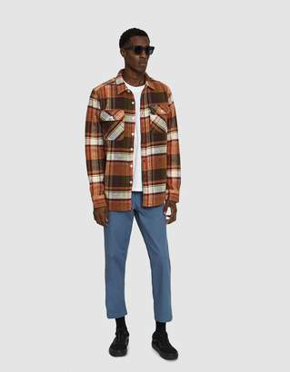 Obey Homebound Woven Shirt in Cream Multi