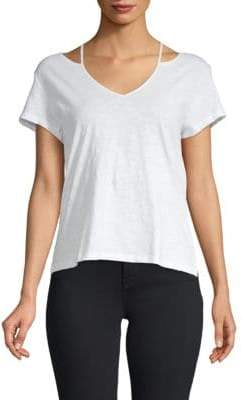 Rebecca Minkoff Cut-Out Cotton Tee