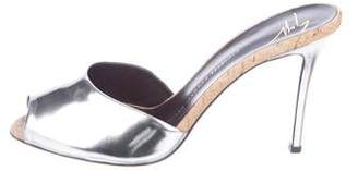 Giuseppe Zanotti Leather Metallic Mules