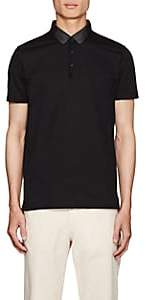 Lanvin Men's Cotton Piqué Polo Shirt - Black