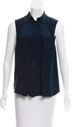 Wayne Silk Button-Up Top