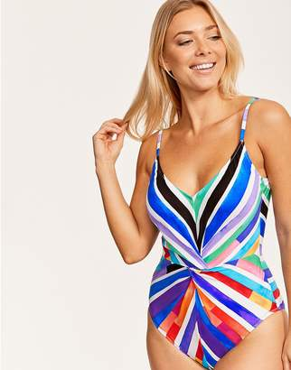 9c3486e23b417 Gottex Carnival Stripe V Neck Underwired Swimsuit