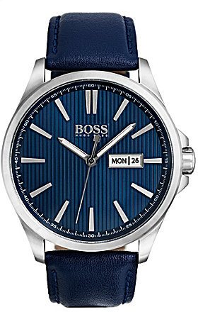 Hugo Boss Hugo Boss BOSS The James Analog, Day & Date Leather-Strap Watch